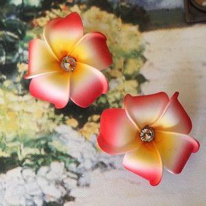 ⚠️FIRM⚠️Hawaiian Flower Hair Clip Set